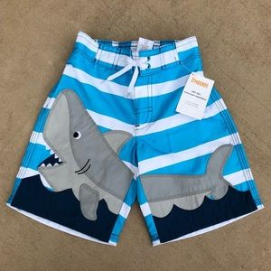 GYMBOREE SWIM SHOP SURFER CATCHING A WAVE SWIM TRUNKS 3 4 5 6 7 8 10 12 NWT